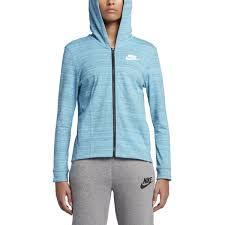 Light Blue Nike Jacket Nike Womens Sportswear Advance 15 Light Blue Hoodie