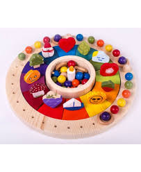 wooden perpetual calendar montessori materials waldorf toys kids wooden toy wooden educational toy children