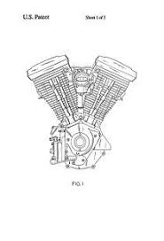 panhead engine poster click image to close harleyt usa patent harley davidson v twin engine drawings