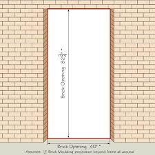 Brick Sizes Chart Entry Door Size Chart Ihopecounselling Co