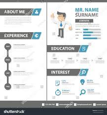 Smart Creative Resume Business Profile Cv Stock Vector 326538698