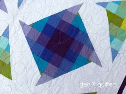 GenXQuilters: Modern Traditional Quilting, Block of the Month ... & Pin It purple pinwheel Lagoon quilt Adamdwight.com