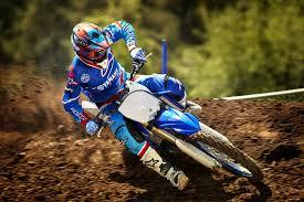 Blue And White Motocross Dirt Bike Yamaha Yz250 Motocross