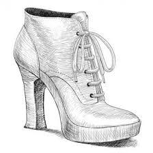 shoes heels drawing. drawing of vintage womens high heel shoes heels