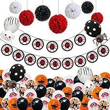 Halloween Foil Balloons Banner Pom Flowers ... - Amazon.com