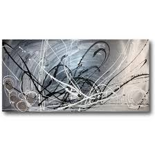 grey abstract canvas wall art