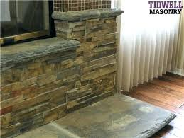 refacing a brick fireplace with stone veneer refacing fireplace with stone veneer refacing fireplace stone veneer resurface brick fireplace with stone