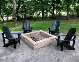 adirondack chairs around fire pit.  Around Unusual Black Color Adirondack Chairs Around Fire Pit With Chairs Around Fire Pit E