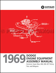 1969 dodge coronet and super bee chassis assembly manual reprint related items