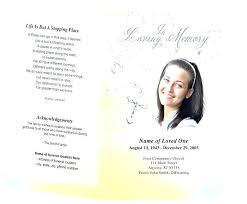 Funeral Programs The Free Program Template Memorial