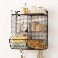 Four-Bin Wire Hanging Shelf - VivaTerra Lightweight with a small footprint,  this wire unit stores all your bathroom or kitchen essentials.