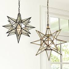 star pendant lighting. Two Pieces Blaack And Gold Star Pendant Lighting Framed Chains Bulb Small Manufacturing A