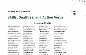 Words Use On Your Resume Strong Verbs For Resumes Action Powerful Magnificent Action Words To Use In Resume