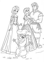 Small Picture Anna Elsa Kristoff and Olaf Coloring Page Coloring Page Frozen