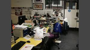 office radio. Plain Radio Chris Moylesu0027 Desk Under A Mountain Of Free Stuff On Office Radio O