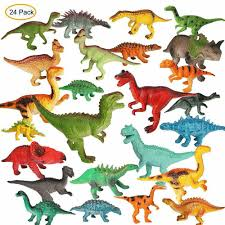 dels about 24 pack juric dinosaur figures toys set simulated dinosaur toy for kids gifts