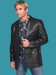 scully men s black italian lamb leather blazer 11