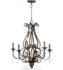 6 light bronze chandelier quorum 6 6 light inch oiled bronze chandelier ceiling light hampton bay