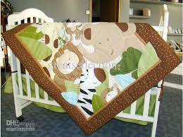animals baby bedding appliqued jungle animals boy baby cot crib bedding set 6 items includes comforter animals baby bedding