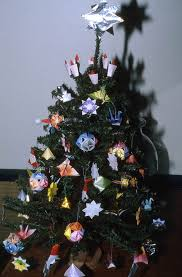 Florida Memory - Christmas tree decorated with origami made by ...