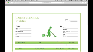 Make Receipts Free Template Free Carpet Cleaning Service Invoice Template Excel Pdf 77
