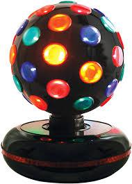 Spinning Colored Light Ball Global Gizmos 45830 Rotating 6 Inch Disco Ball Light Multi Coloured