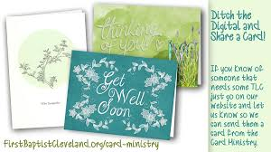 Card Ministry First Baptist Church Of Greater Cleveland