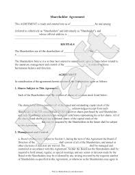 This shareholder agreement template is available for use on upcounsel. Free Shareholder Agreement Free To Print Save Download