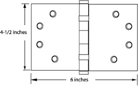 Door Hinge Size Chart Hinge Basics Architectural And Residential Hinges Door