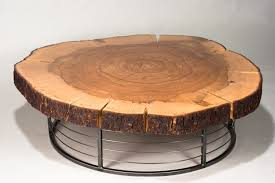 image of tree stump end table