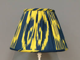 Blue And Yellow Gathered Lampshade
