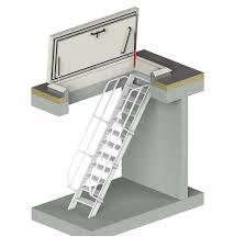 Der große vorteil dieser treppenart liegt darin, dass man keine rundungen oder wendelungen in die konstruktion mit integriert, sondern über das podest den richtungswechsel der treppe ermöglicht. Flachdachausstieg Mit Treppe Staka Flachdachausstiege