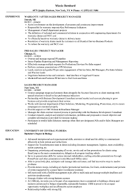 Sales Project Manager Resume Samples Velvet Jobs