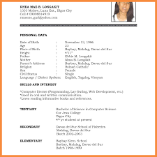 7 8 New Resume Format Bioexamples