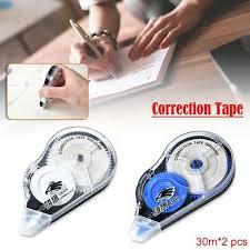 2pcs Correction Tape Roller <b>30m Long</b> White Sticker Study Office ...