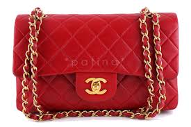 chanel bags classic red. chanel red lambskin medium-small classic 2.55 double flap bag bags