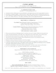 Sample Resume For Special Education Assistant Special Education