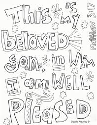 Small Picture Baptism of Jesus Coloring Pages Religious Doodles