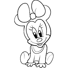 Small Picture Baby Minnie Mouse Coloring Pages and Pictures to Colour and Print