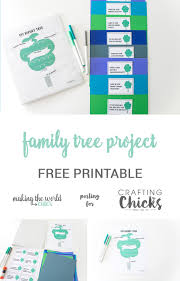 Making A Family Tree For Free Family Tree Project For Kids With Free Printable The
