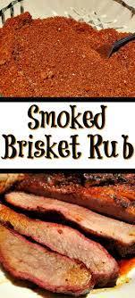smoked brisket rub recipe with brown