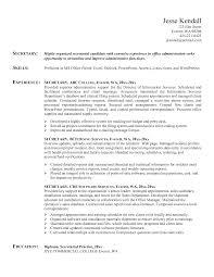 Secretary Resume Objective Examples Legal Secretary Resume Objective Examples Assistant Sample Free 17