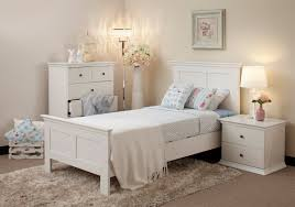 image of casual white bedroom furniture