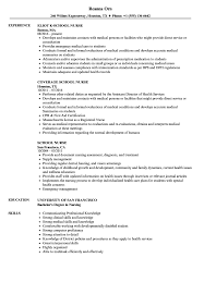 Sample Nurse Resume School Nurse Resume Samples Velvet Jobs 41