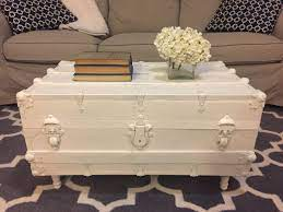Bone inlayed furniture is really popular right now.not with people like us, cause we're cheap, but with people that have money to throw around. Diy Vintage Steamer Trunk Coffee Table Revival Woodworks