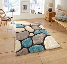 noble house pebbles rug blue cream