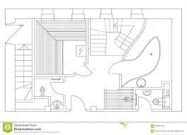 floor plan symbols door. Unique Floor Architectural Floor Plan Symbols Sauna View With Standard Furniture  Stock Vector  For Door