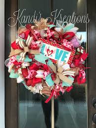 A personal favorite from my Etsy shop https://www.etsy.com. Valentine WreathValentine  CraftsValentines DayRibbon ProjectsFront Door ...