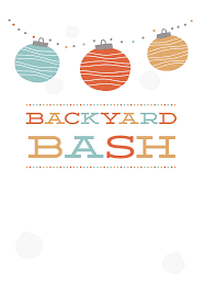 Backyard Bash Free Printable Party Invitation Template