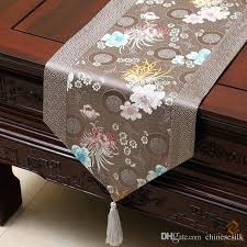 decoration happy patchwork printed table runner style luxury cover cloth high grade damask coffee dining